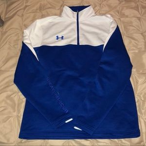 Blue & White Quarter Zip